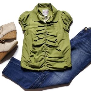 Kensie Girl New! Ruched Blouse Small